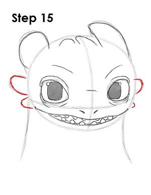Рисуем Беззубика дракона 14