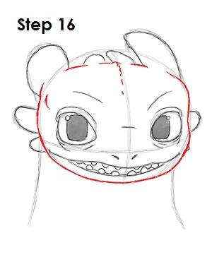 Рисуем Беззубика дракона 15