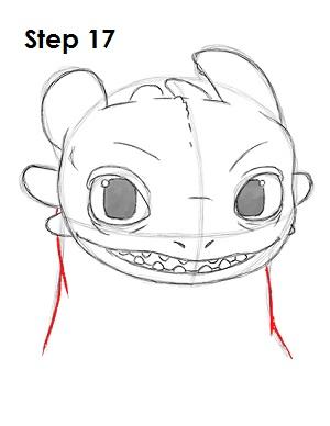 Рисуем Беззубика дракона 17