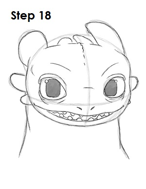 Рисуем Беззубика дракона 18