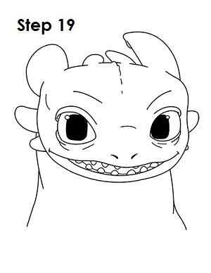Рисуем Беззубика дракона 19