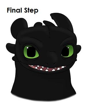 Рисуем Беззубика дракона 20