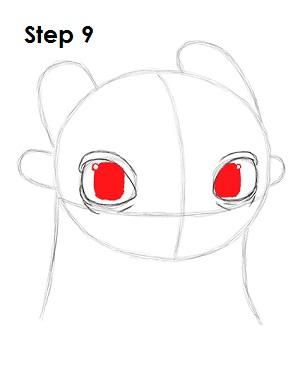 Рисуем Беззубика дракона 8