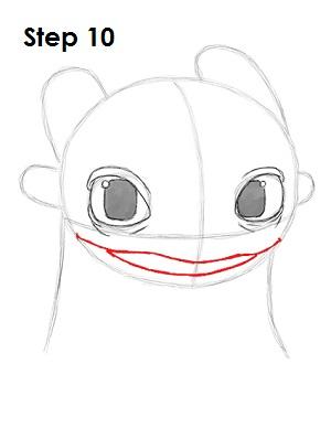 Рисуем Беззубика дракона 9