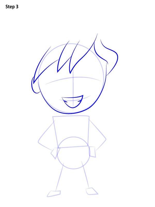 Как нарисовать милого Аладдина 3