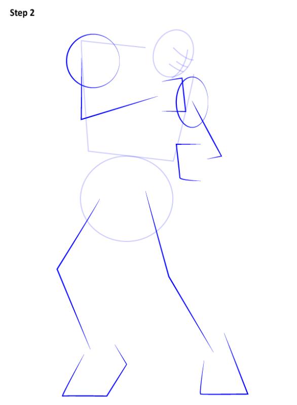 Как нарисовать Кена из Уличного бойца 2