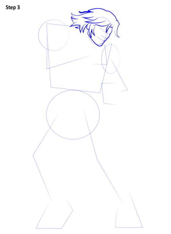 Как нарисовать Кена из Уличного бойца 3