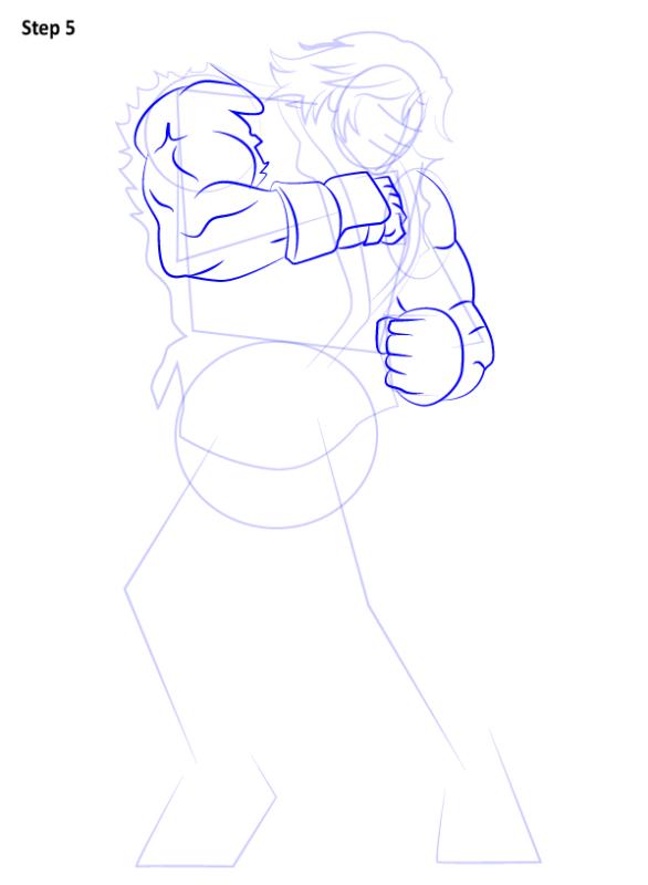 Как нарисовать Кена из Уличного бойца 5