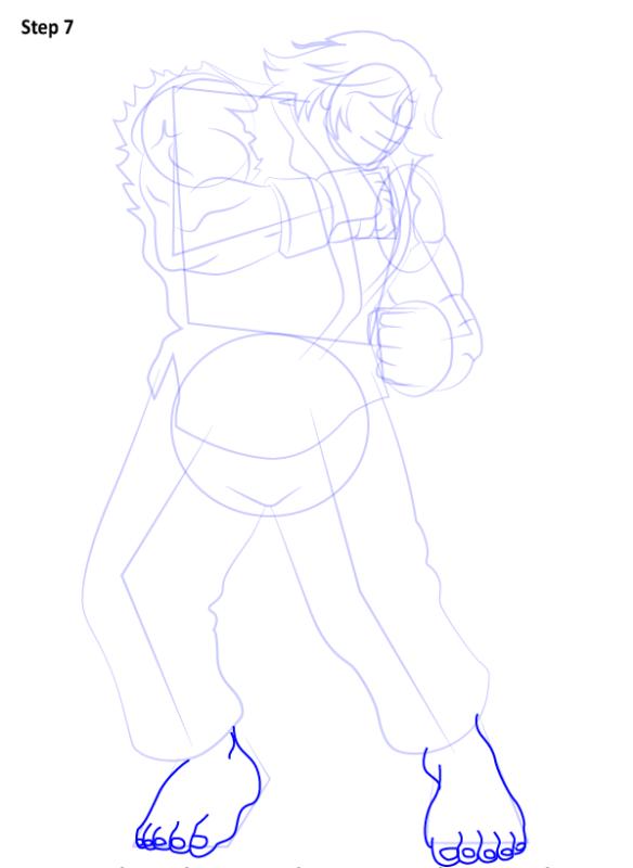 Как нарисовать Кена из Уличного бойца 7