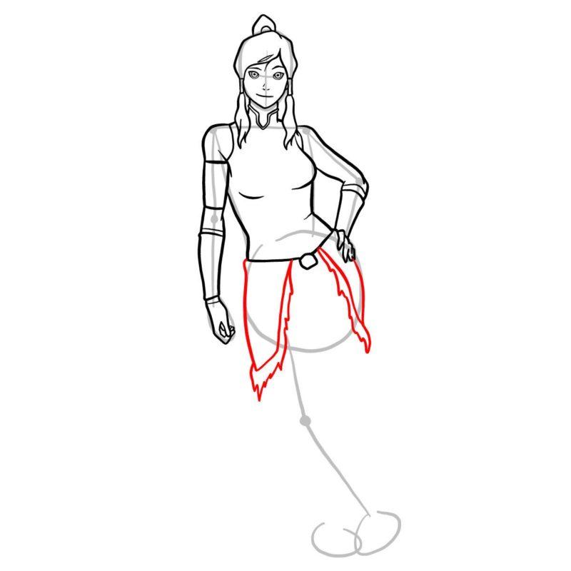 Как нарисовать Корру 10