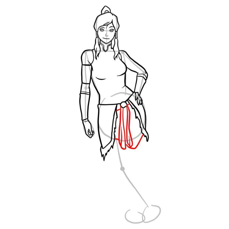 Как нарисовать Корру 11