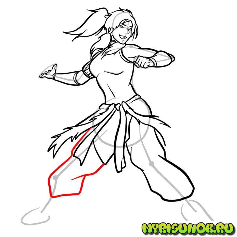 Как нарисовать Корру 27
