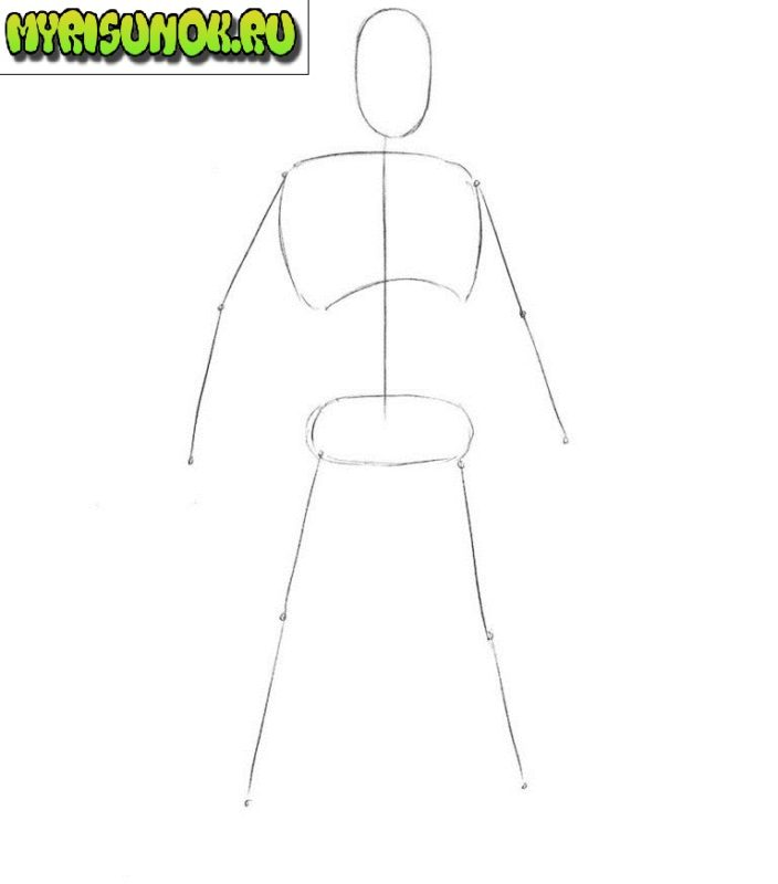 Как нарисовать Кратоса из игры 1