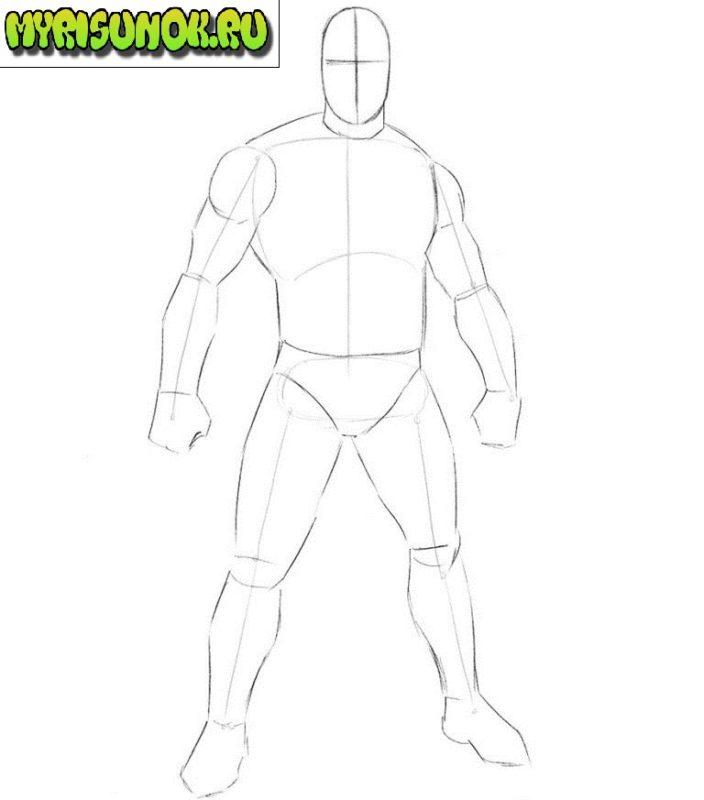 Как нарисовать Кратоса из игры 2