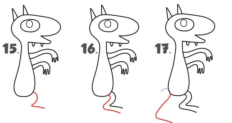Рисуем демона Люци6
