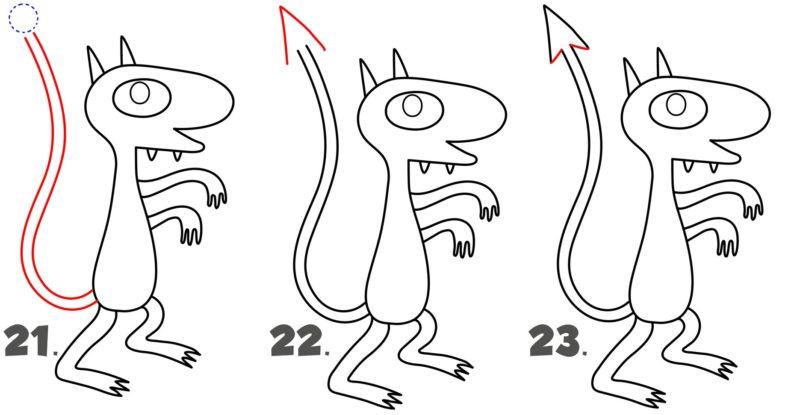 Рисуем демона Люци8