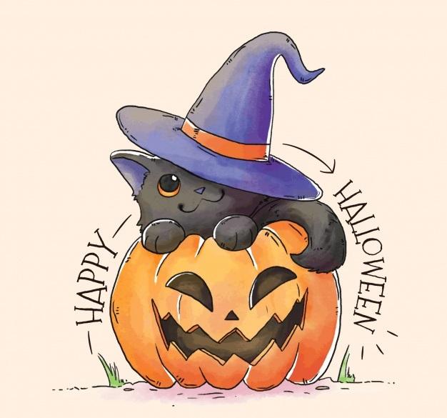 Срисовка Хеллоуина 0