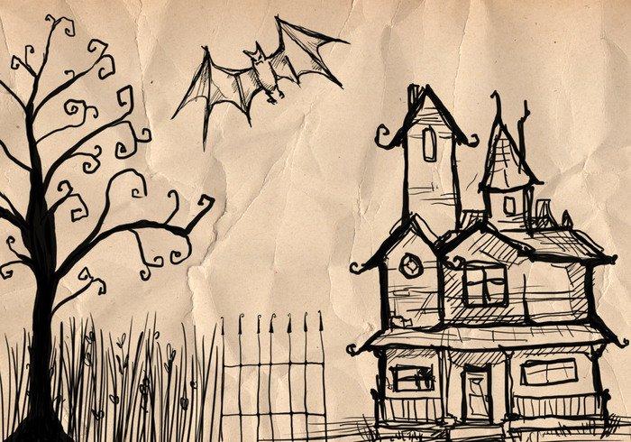 Срисовка Хеллоуина 20