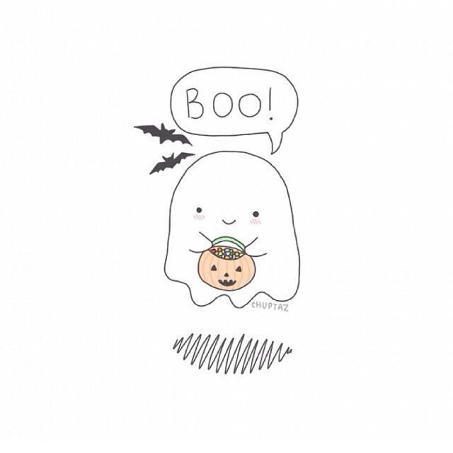 Срисовка Хеллоуина 7