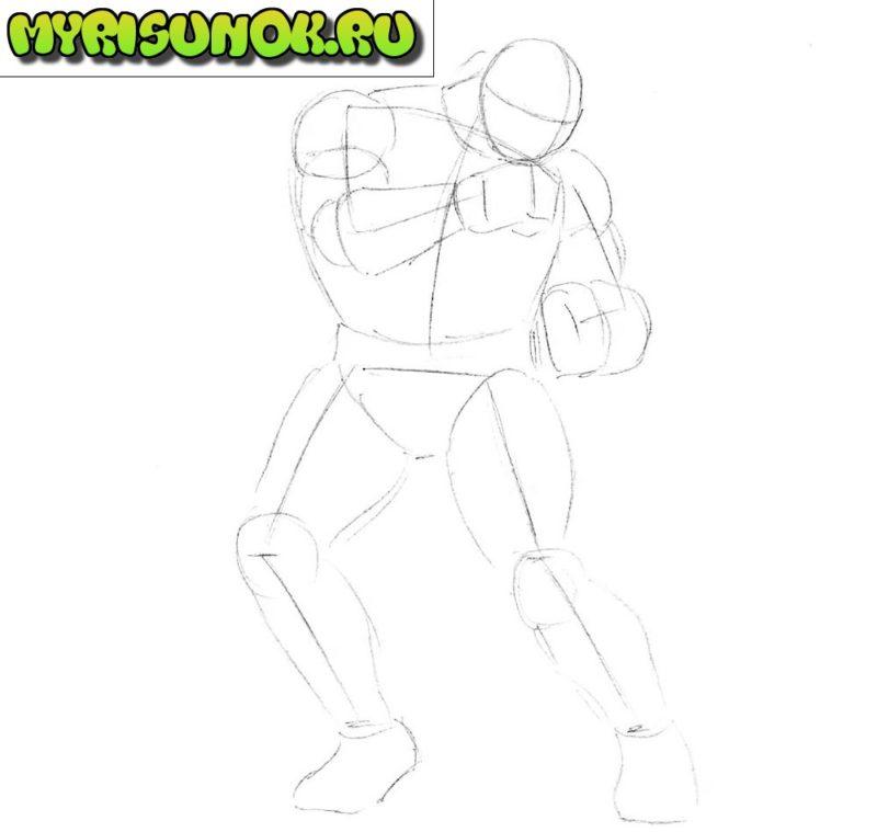 Как нарисовать Рю из Street Fighter 2
