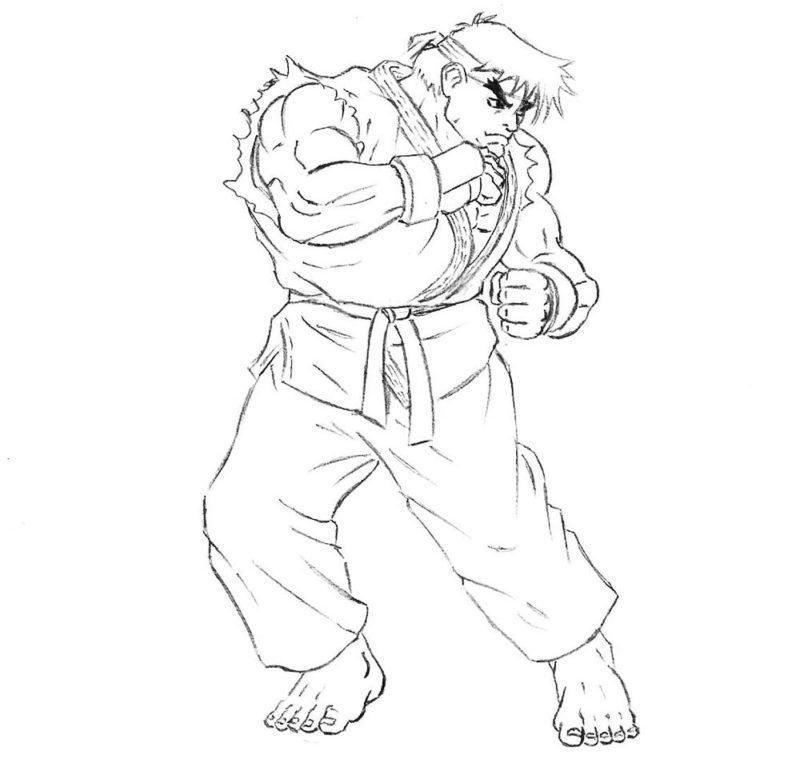 Как нарисовать Рю из Street Fighter 6