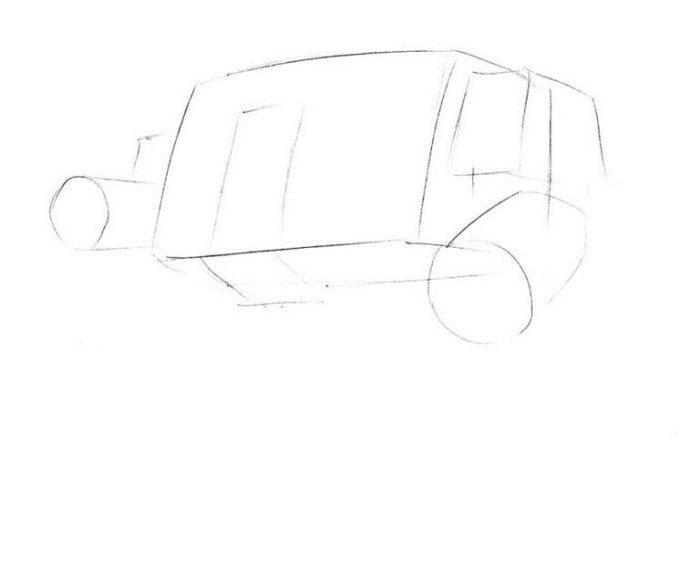 как нарисовать дредноут 1