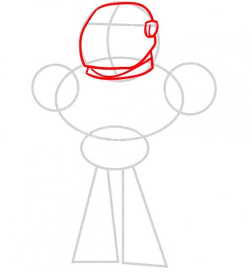 Рисуем Киборга из мультика 2
