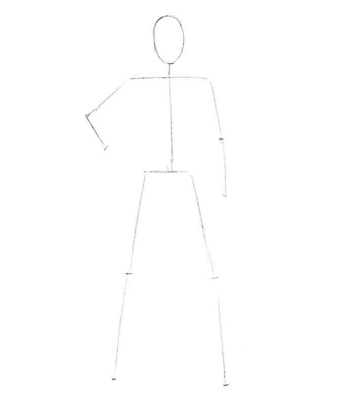 как нарисовать Магнето 1