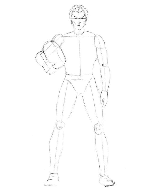 как нарисовать Магнето 3