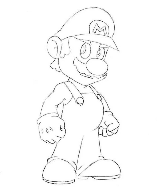 Как нарисовать Марио 0