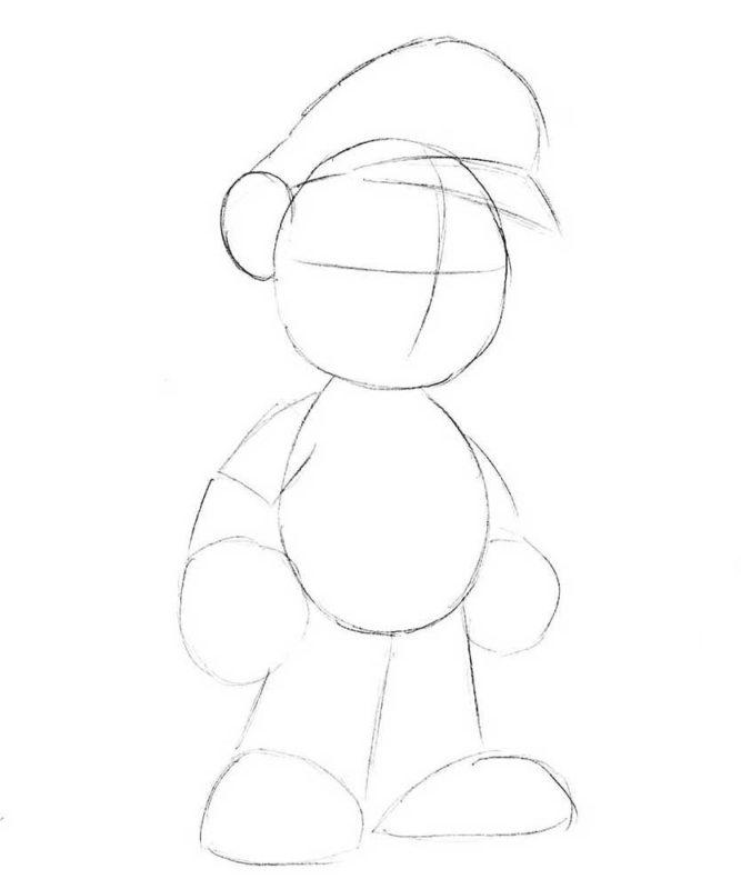 Как нарисовать Марио 3