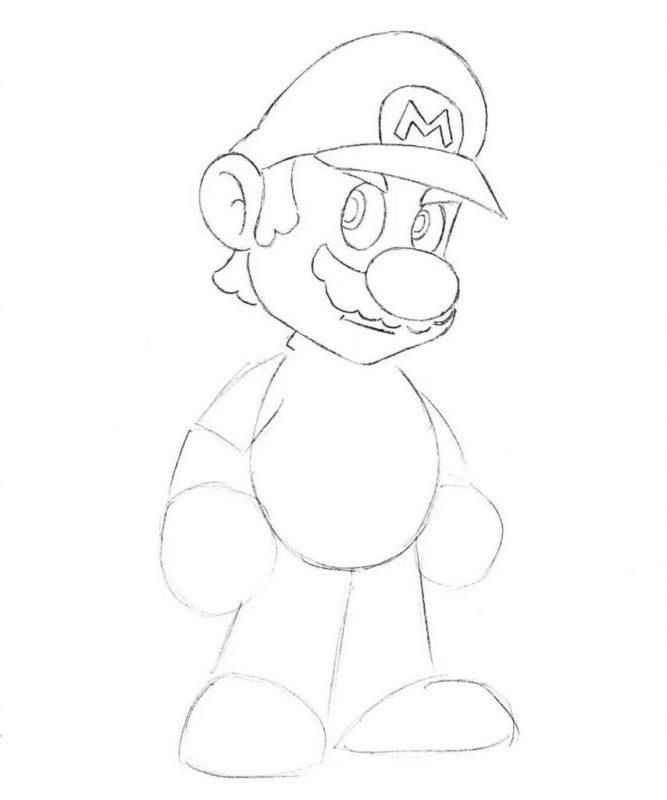 Как нарисовать Марио 5