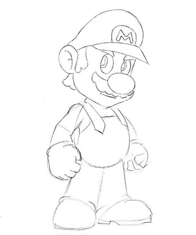 Как нарисовать Марио 6