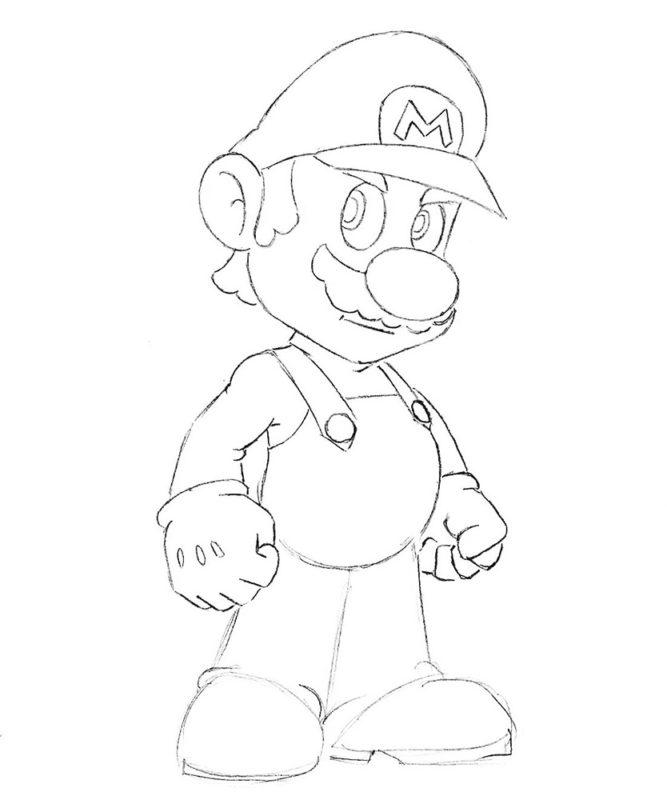 Как нарисовать Марио 7