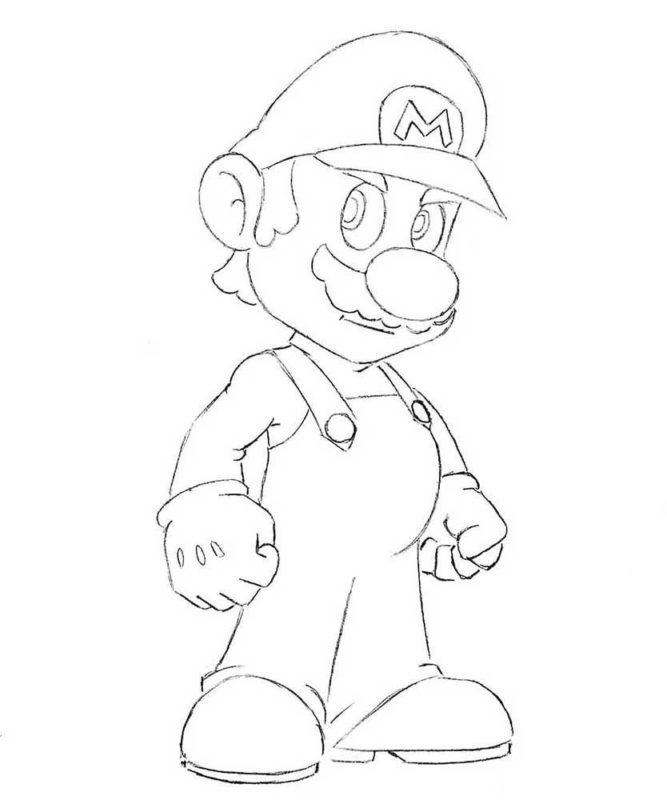 Как нарисовать Марио 8