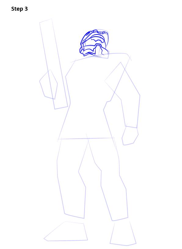 как нарисовать мастера Чифа 3