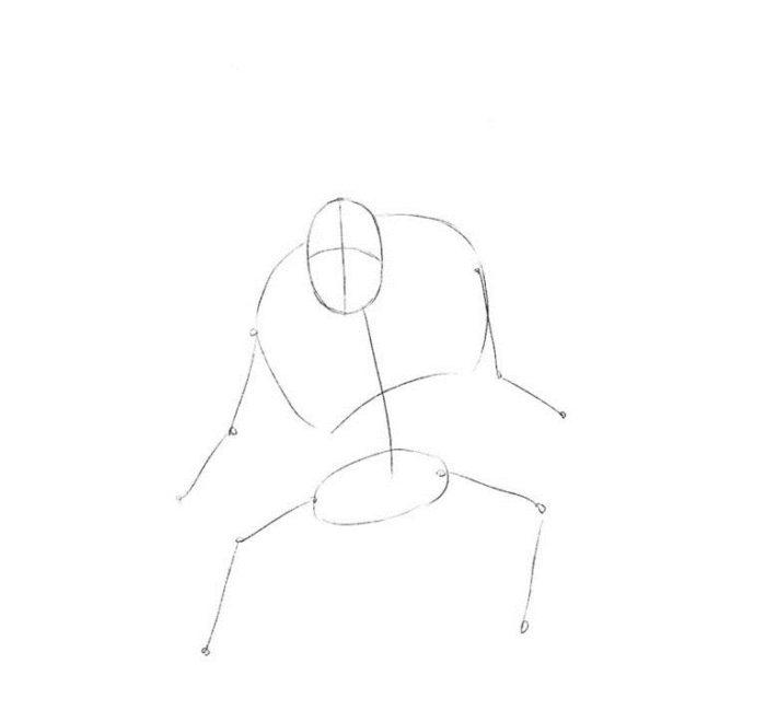 Как нарисовать орка из Вархамер 1