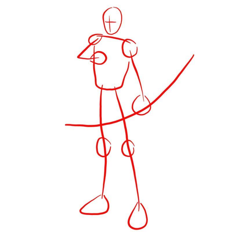 Как нарисовать Роя Харпера 1