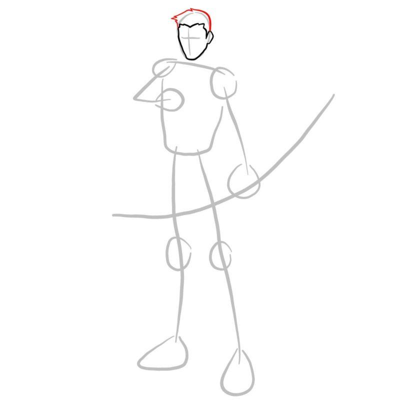 Как нарисовать Роя Харпера 3