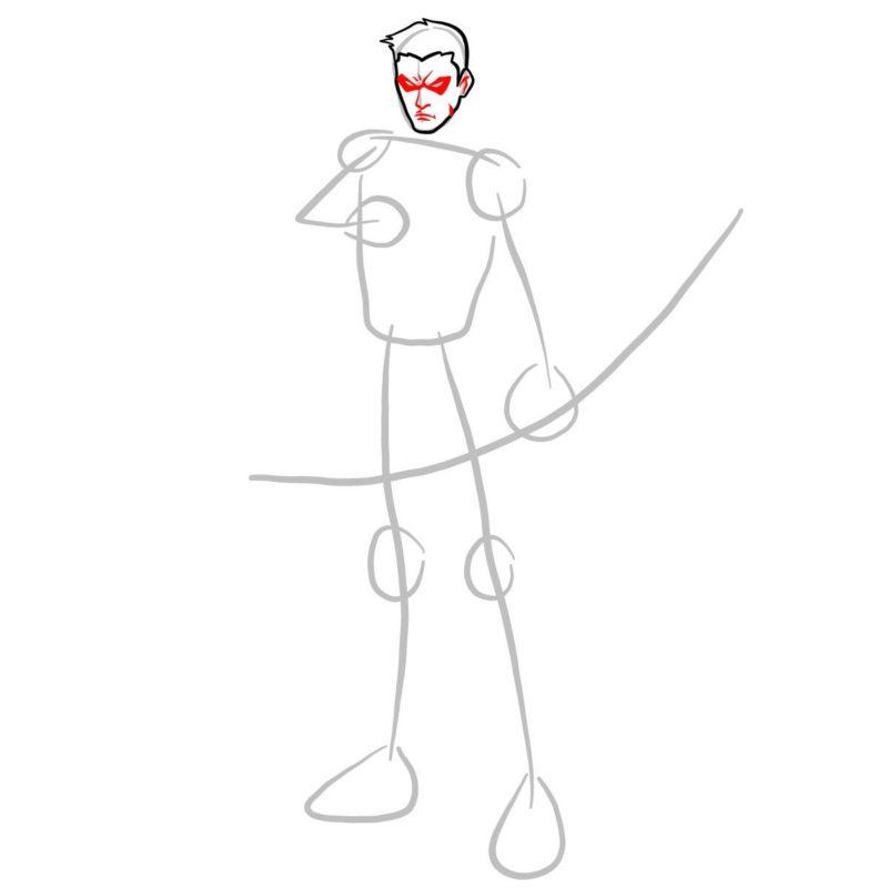 Как нарисовать Роя Харпера 4