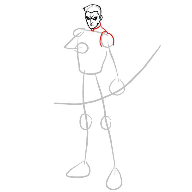 Как нарисовать Роя Харпера 5