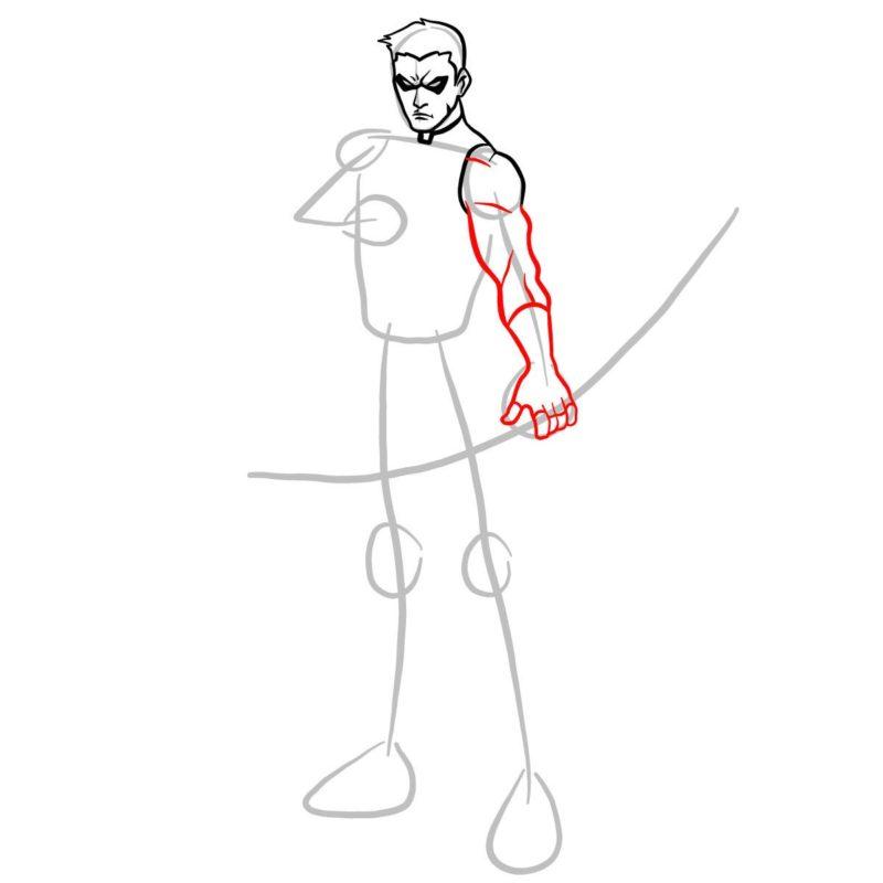 Как нарисовать Роя Харпера 6