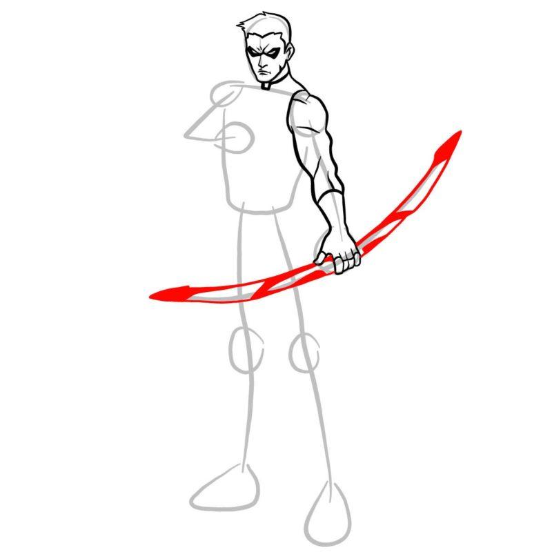Как нарисовать Роя Харпера 7