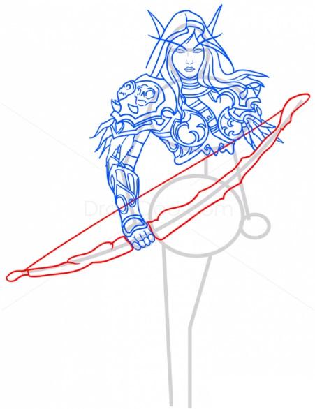 Как нарисовать Сильвану 11