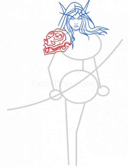 Как нарисовать Сильвану 5