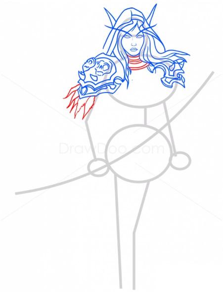 Как нарисовать Сильвану 7