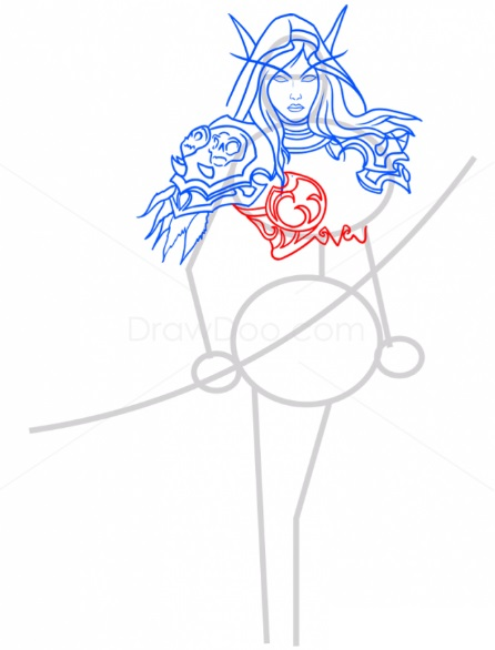 Как нарисовать Сильвану 8