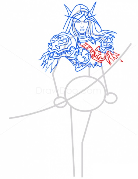 Как нарисовать Сильвану 9