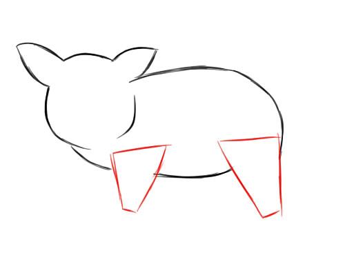 Рисуем символ 2019 года 6