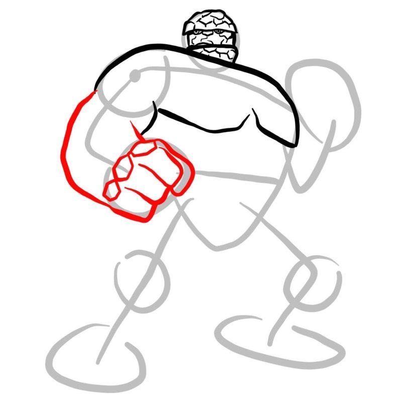 Как нарисовать Существо из Марвел 6